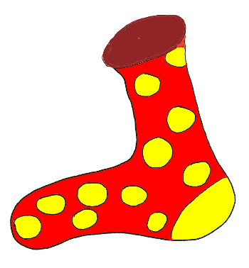 Chaussette rouge
